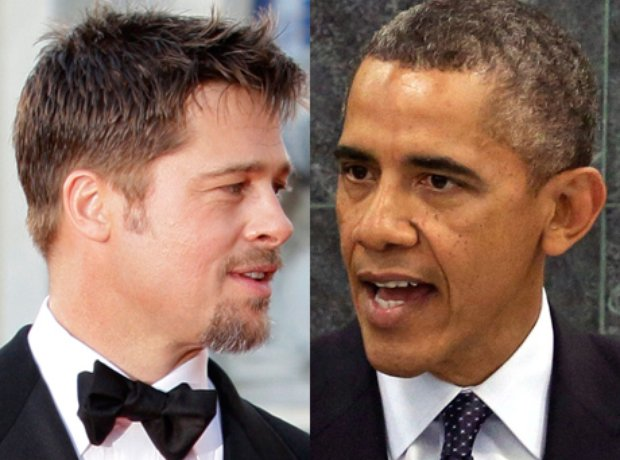 Brad Pitt and Barack Obama