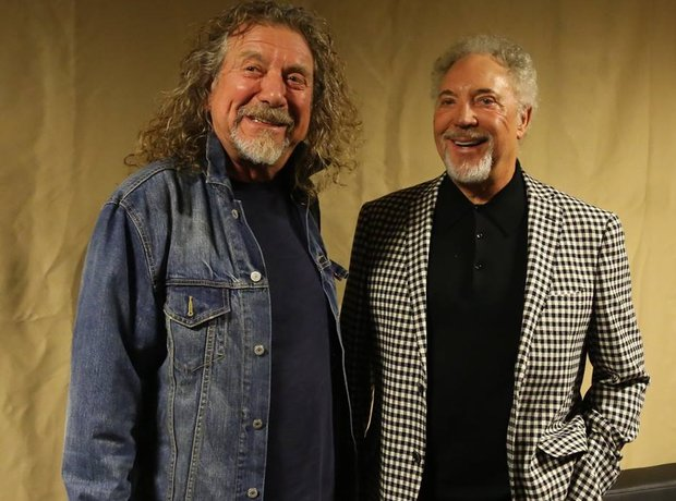 Robert Plant with Tom Jones