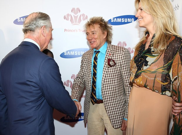 Prince Charles and Rod Stewart