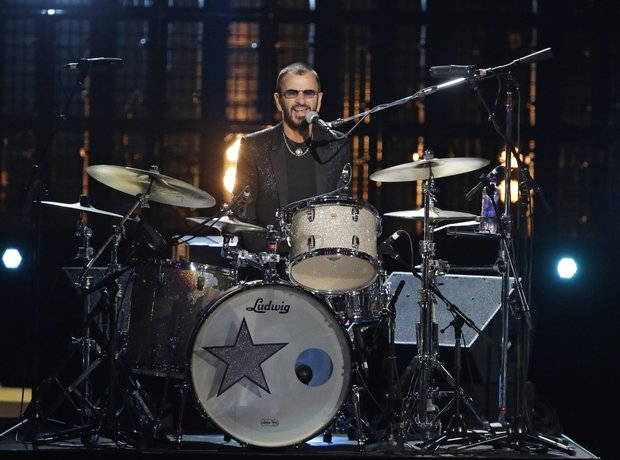 Ringo Starr performs at the Rock and Roll Hall of