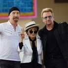 Bono, The Edge, Yoko Ono on Ellis Island