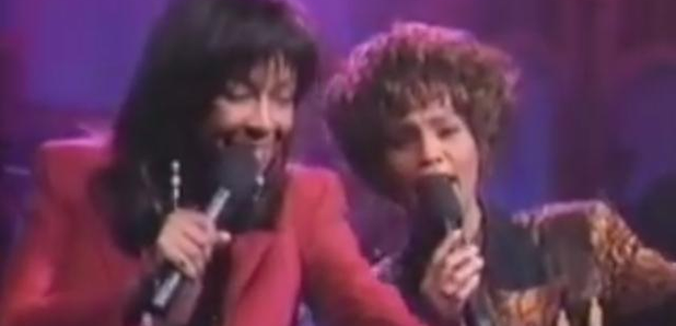 Whitney Houston Natalie Cole perform together