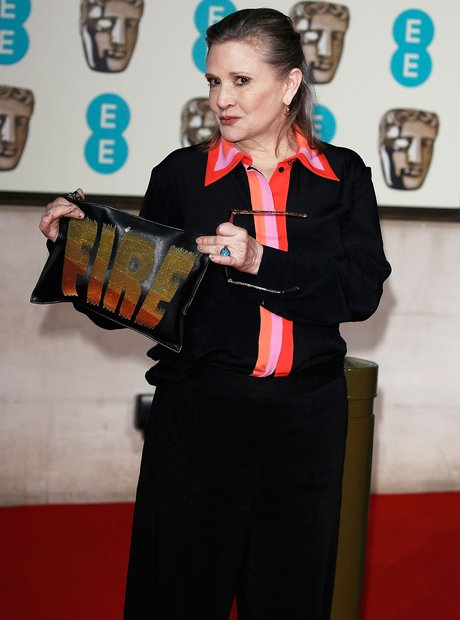 Carrie Fisher at the Bafta Awards 2016