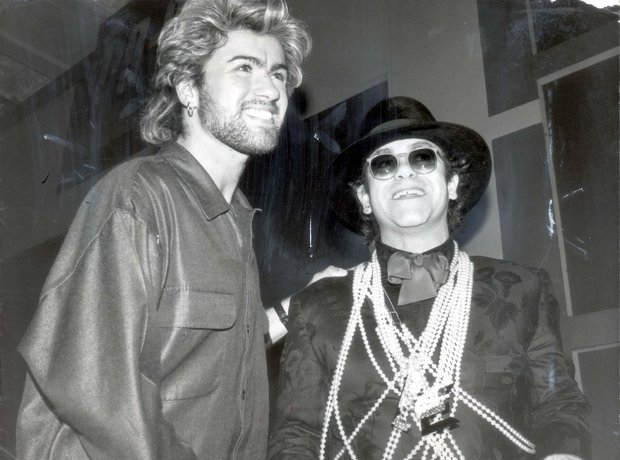 Backstage Gallery ELTON JOHN AND GEORGE MICHAEL