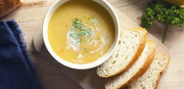 soup, bread