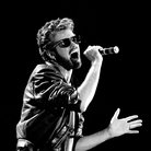 George Michael performing in 1985