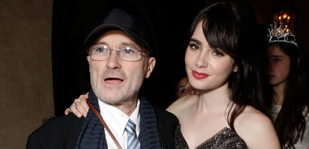 Lily and Dad Phil Collins